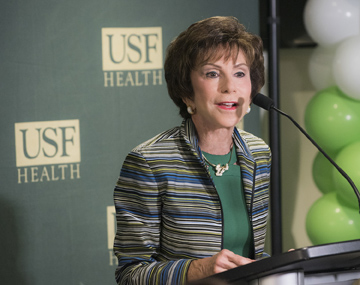 USF System President Judy Genshaft speaks at Dig This!