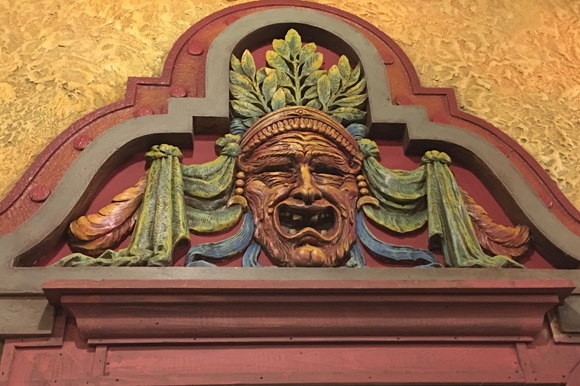 Ornate detail at Tampa Theatre gets a facelift.