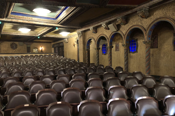 New seats installed at the Tampa Theatre.