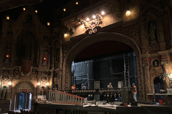 Renovations underway at the Tampa Theatre.