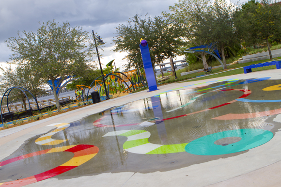 The new Bradenton Riverwalk.