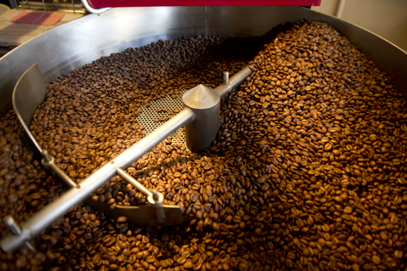 Beans are roasted at Buddy Brew.