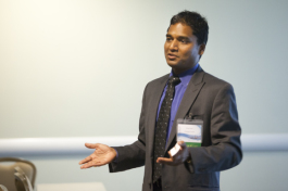 Kunal Jain leads a discussion during Health Camp Tampa 2013.