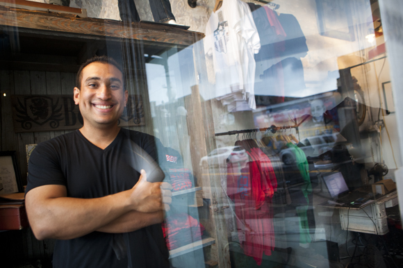 Roberto Torres is one of the owners of Black & Denim. - Photo by Julie Branaman