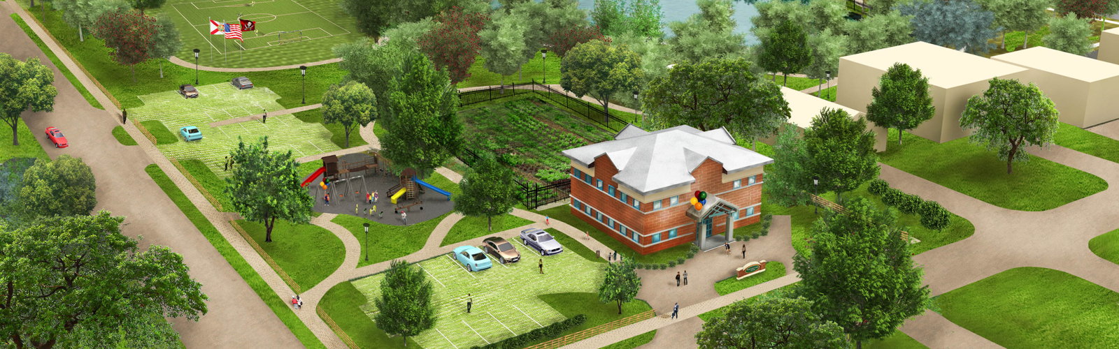 Rendering of Harvest Hope Park. <span class='image-credits'>Courtesy of University Area CDC</span>