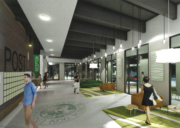 Residence hall interior at USF.