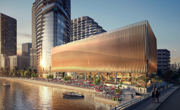 Retail space planned next to Riverwalk Place on Tampa Riverwalk.