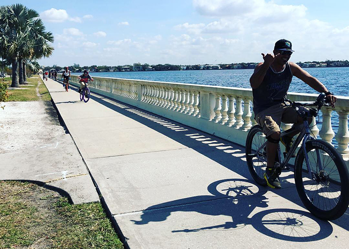 Happened across the Ybor riders, a great group of boys with 2 leaders enjoying Bayshore Trail.