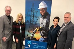 Pinellas County educators and students meet with employees from Duke Energy as part of the Career Leadership Awareness Forum.