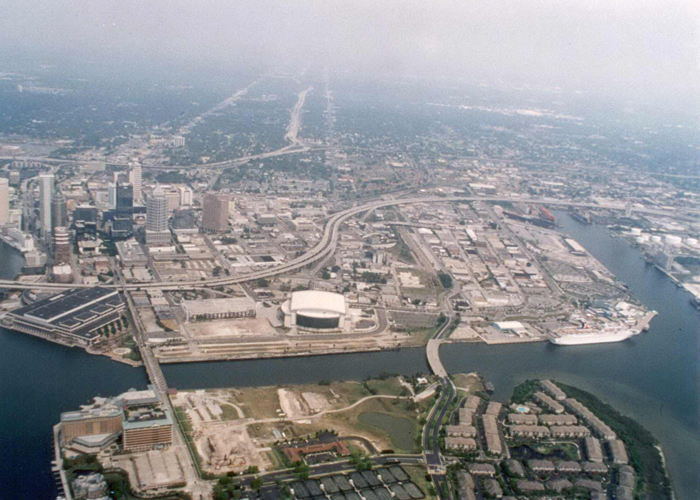 The late1990's at the port and downtownTampa.