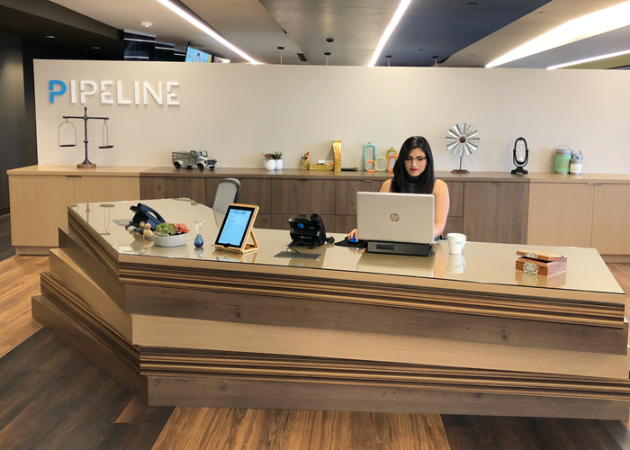 The offices of Pipeline Tampa in downtown's Park Tower.