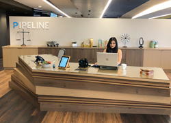 Pipeline reception area