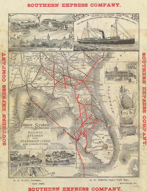 Map of the Plant System of railway steamer and steamship lines.