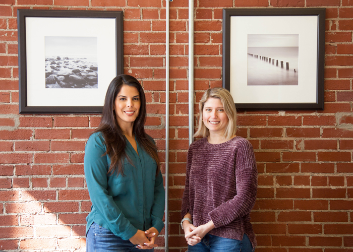 Karina Perez, left, and Silvia Brett are lawyers with Vanguard Attorneys.
