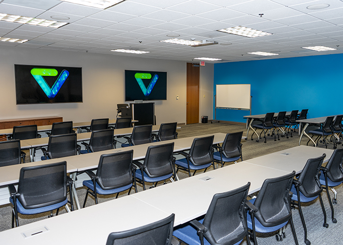 The training room at Validity.