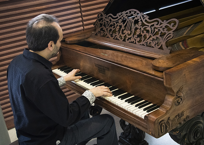 USF recently received a gift of a Civil War-era Steinway piano to be on permanent display at the School of Music.