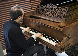 USF recently received a gift of a Civil War-era Steinway piano. It will be on permanent display at the School of Music.