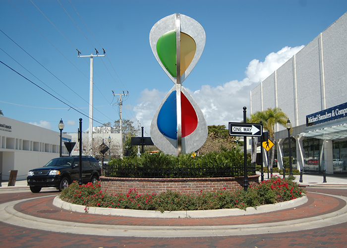 """Embracing Our Differences"" by S. Blessing Hancock is at Orange Avenue and Main Street in Sarasota."