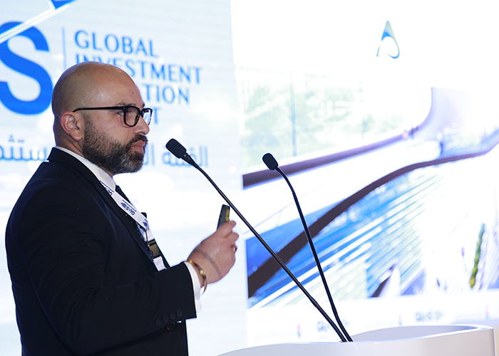 Rupen Philloura, CEO and Founder of Airport Groupe, speaks about his software solution, AiX, at the Global Investment in Aviation Summit in Dubai.