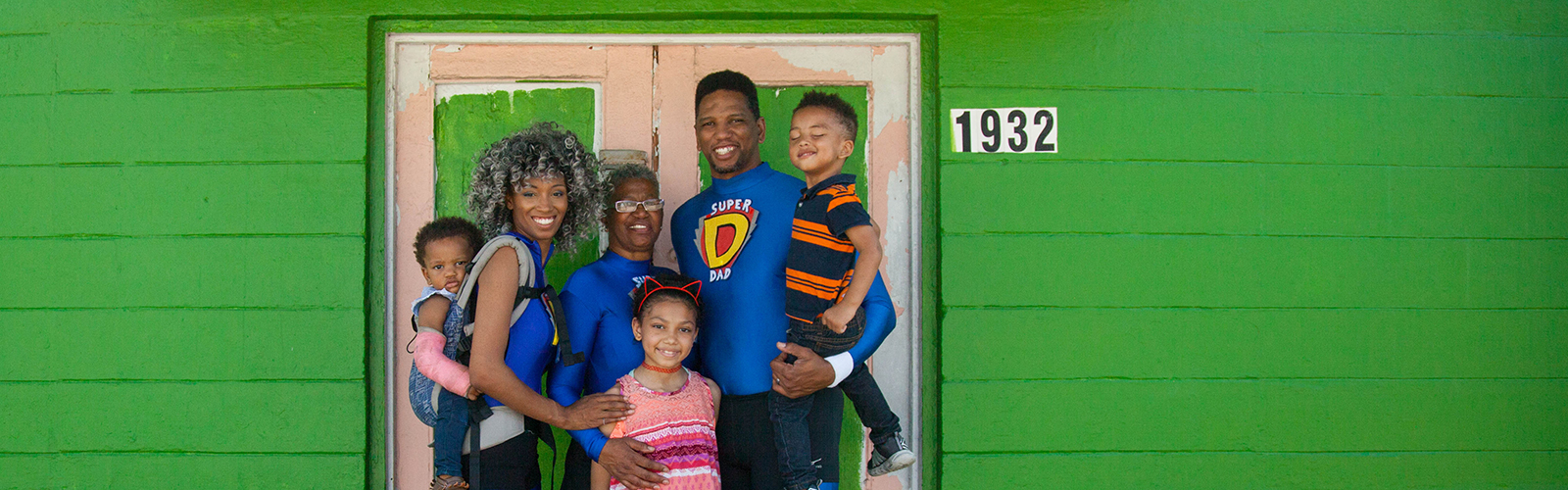 Founders of Joining Together Eliminating Poverty with their kids and grandkids at their future headquarters in West Tampa.  <span class=&apos;image-credits&apos;>Amber Sigman</span>
