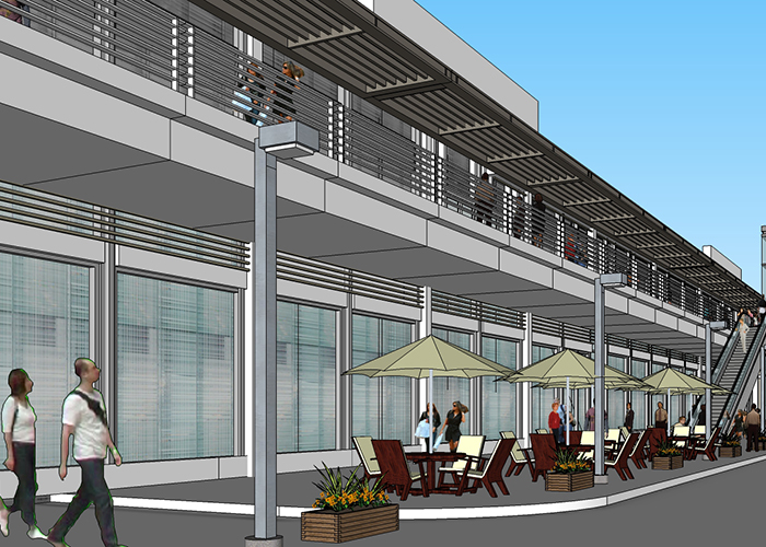 Uptown Tampa retail and office space renderings.