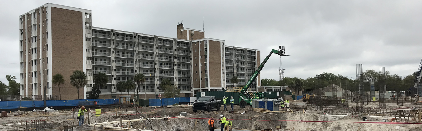 Work crews complete demolition of the North Boulevard Homes public housing and start construction on the West River redevelopment project.