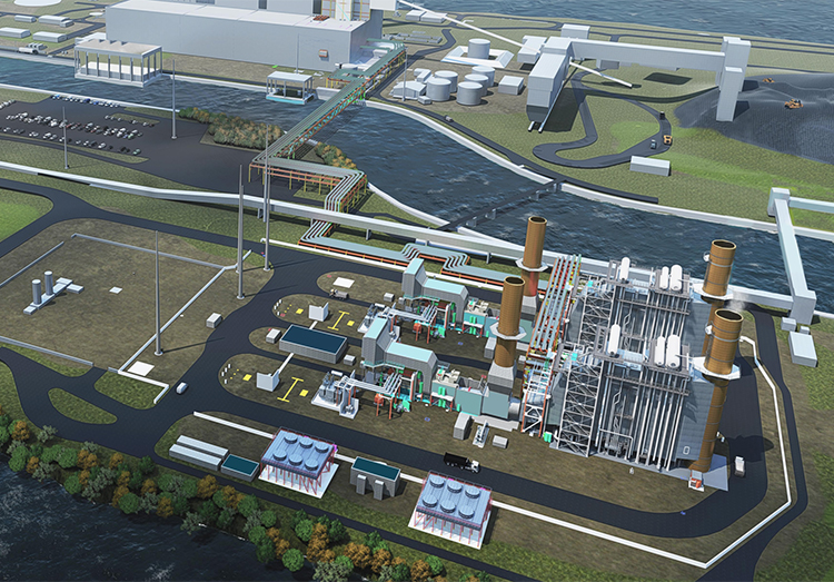 A schematic diagram of TECO Energy's proposed Big Bend modernization.