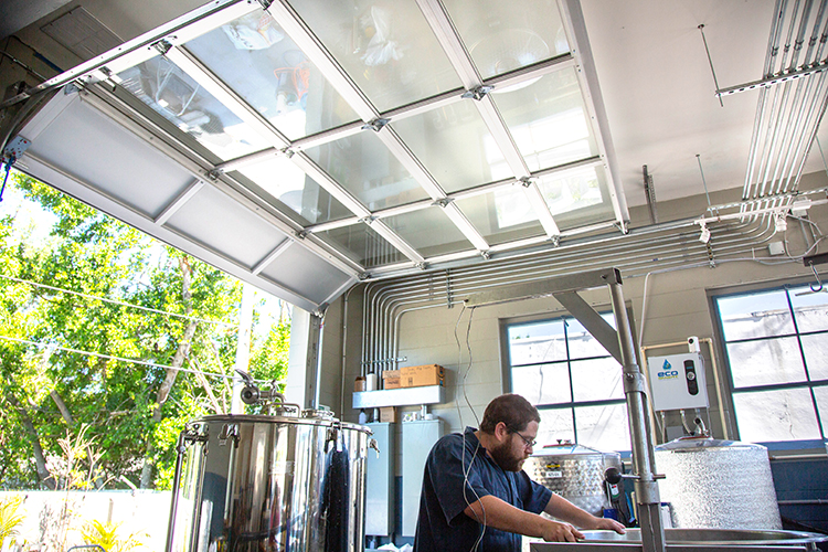 Aaron Barth brews a fresh batch of Indian pale ale.
