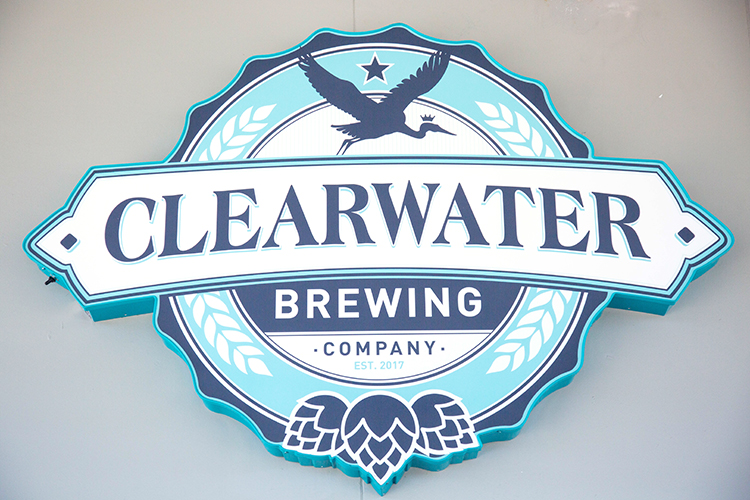Signage at Clearwater Brewing Company.