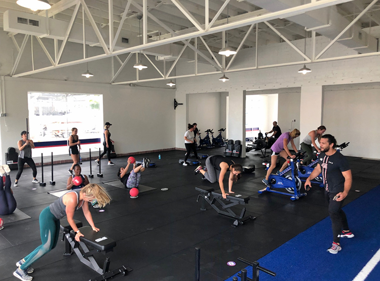 Members work out at F45 in St. Pete for a 45 minute high-intensity, functional workout session.