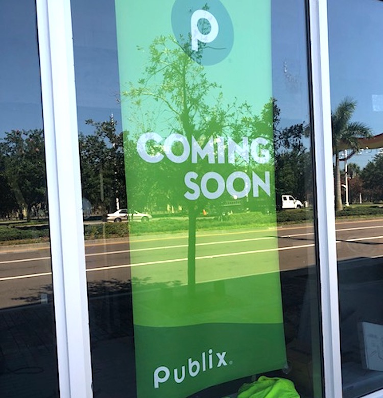 Signage on new Publix being built in Channel District.