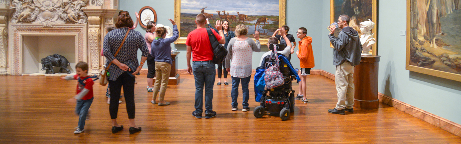 Families from Easter Seals at The Ringling&apos;s Where Everyone Belongs (WEB) program. <span class=&apos;image-credits&apos;>Daniel Perales</span>