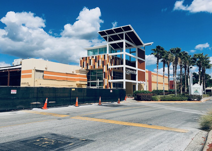 Renovation is underway at University Mall in Tampa.