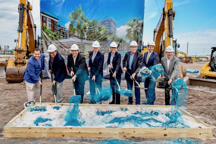 Bromley Companies celebrate the start of vertical construction at $500M Midtown Tampa.