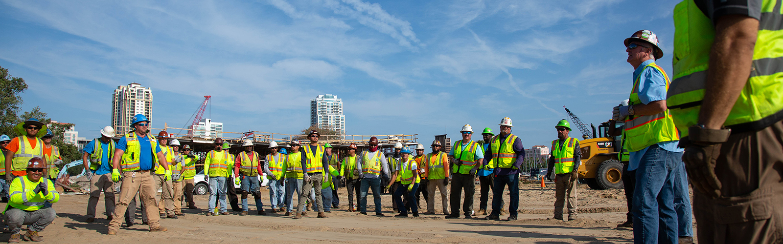 The Skanska USA construction crew at St. Pete Pier during Safety Week.