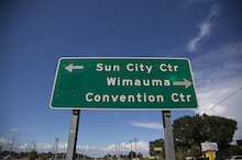 Wimauma street sign
