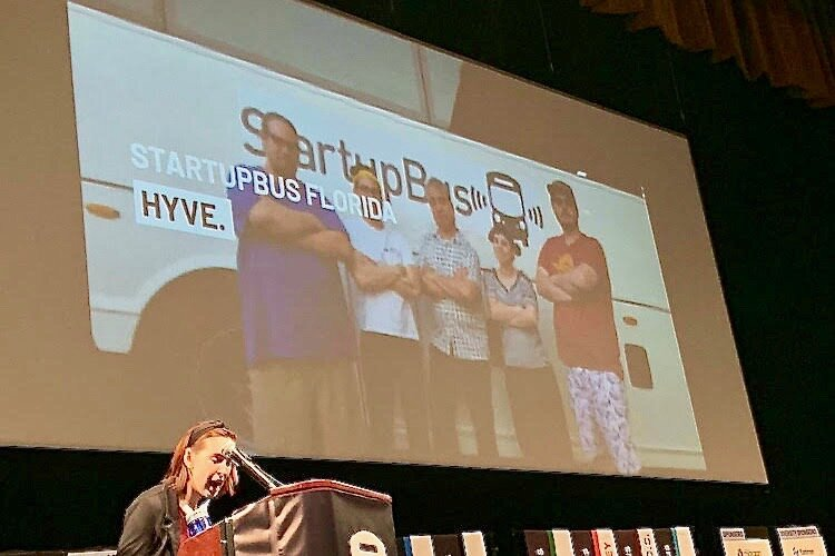 The Hyve startup team from Tampa Bay makes their pitch in New Orleans.