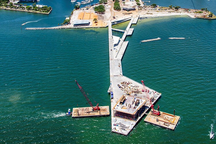 St. Pete Pier construction from May 2019.