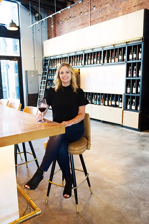 Jennifer Bingham, co-owner of Cru Cellars.