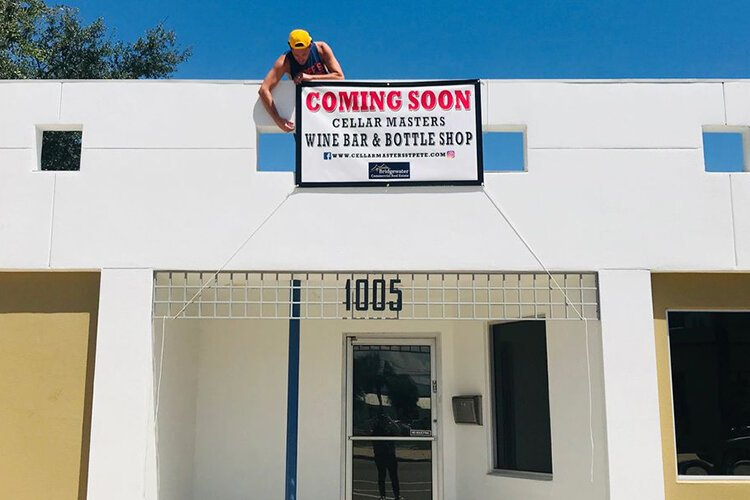 CellarMasters Wine Bar and Bottle Shop to open soon in St. Pete.