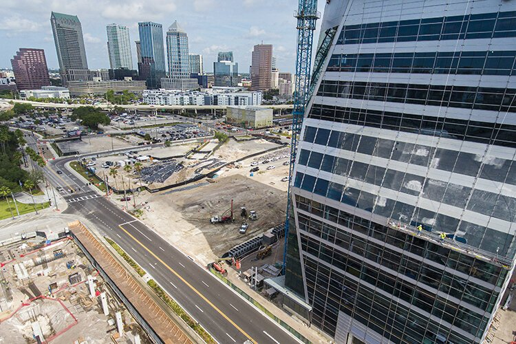 The USF Morsani College of Medicine and Heath Institute is an anchor for Water Street Tampa, a $3.5 billion development planned by Strategic Property Partners.