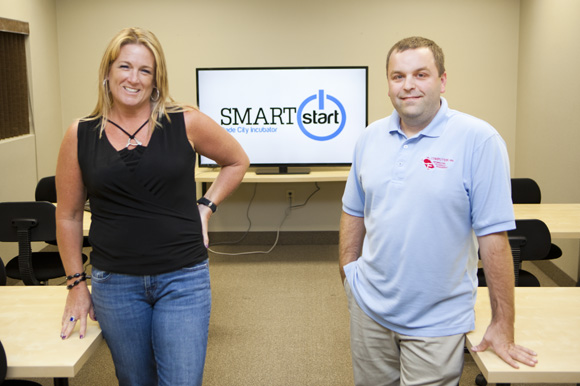 Kristin Pelletier and Ken Buzzie are SmartStart clients. - Julie Branaman