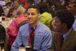 Ishmael Lopez attends the Black, Brown and College Bound Summit. - Julie Branaman