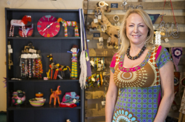 Sita Monti at her Liv Afrika storefront in South Tampa. - Julie Branaman