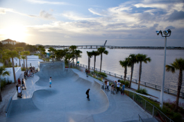 Bradenton Riverwalk Skatepark. Photo by Julie Branaman