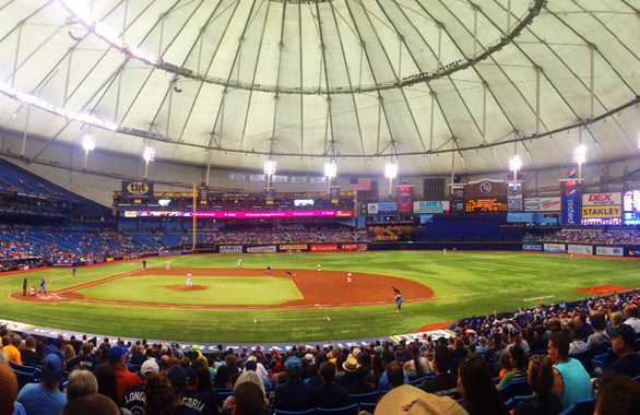 Tampa Bay Rays play at Tropicana Field.