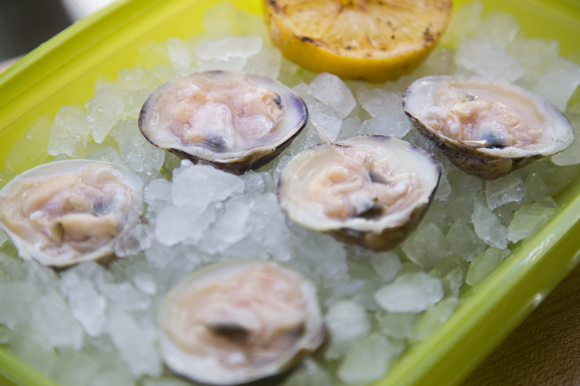 Clams can be purchased for takeout or can be shucked and prepared to eat right away.