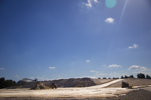 Gypsum at TECO is sold after being used in the plant's scrubber system.