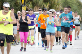 St Petersburg Running Company Thursday Run Club run the Pinellas Trail.