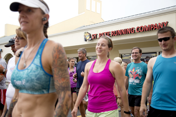 St Petersburg Running Company Thursday Run Club heads out to the Pinellas Trail.